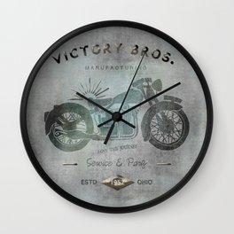 Motorbike Vintage Grunge Poster Wall Clock