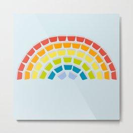 Somewhere Over the Pyrex Rainbow Metal Print