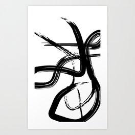 Dancer - Black & White Palette Art Print