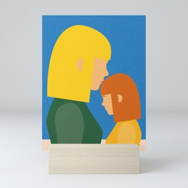 Mum And Daughter Mini Art Print