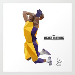 The Black Mamba Art Print