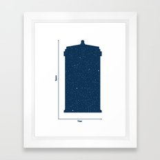 Tardis, Space and Time Framed Art Print