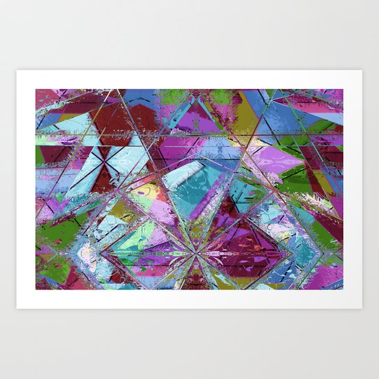 Abstract geometrics Art Print