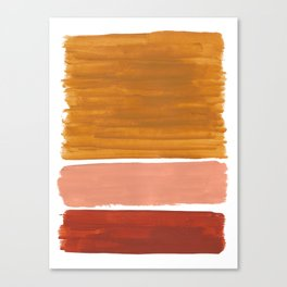 Rothko Minimalist Colorield Warm Earth Tone Yellow Ochre Clay Beige by Ejaaz Haniff Canvas Print