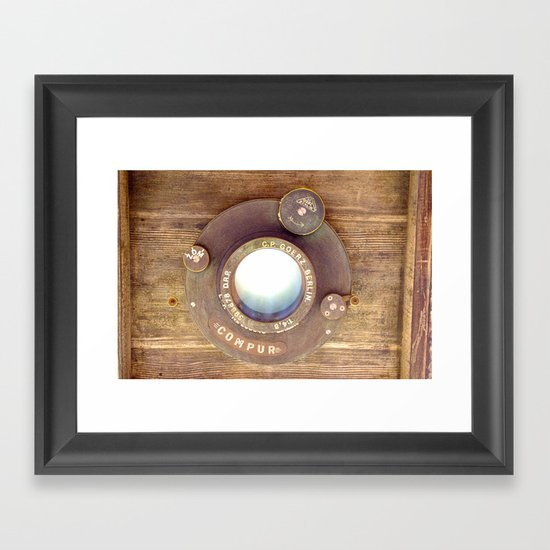 Old School Camera Framed Art Print