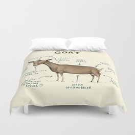 Anatomy of a Goat Duvet Cover
