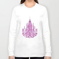 chandelier Long Sleeve T-shirts featuring Chic Chandelier by Zen and Chic