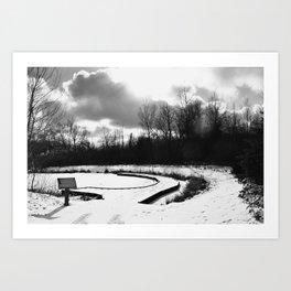 Dark Skies Pond Art Print