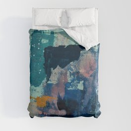 The Peace of Wild Things: a vibrant abstract piece in a variety of colors by Alyssa Hamilton Art Duvet Cover