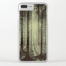 Victor Olgyay - Sunset - 1910 Sunrise Through Tree Forest Silhouette Clear iPhone Case
