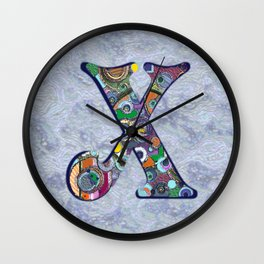 The Letter X Wall Clock