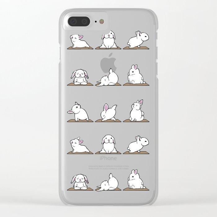 Bunnies Yoga Clear iPhone Case