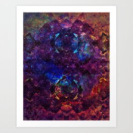 Rainbow Aura Quartz NebulÆ Art Print