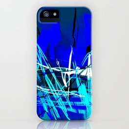 Blue and white iPhone Case