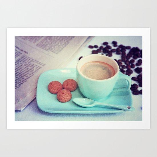 Espresso time Art Print