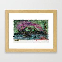 At The Shore of Dagon Framed Art Print