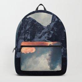 Magic mountain sunset Backpack