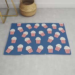 Cute Popcorn Bucket in red and blue Rug