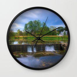 Wehr's Dam Storm Clouds Wall Clock