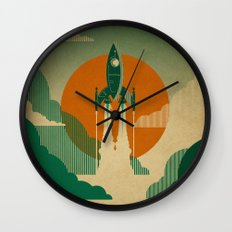 The Voyage (Green) Wall Clock