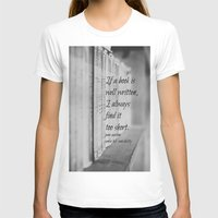 jane austen T-shirts featuring Jane Austen Book by KimberosePhotography