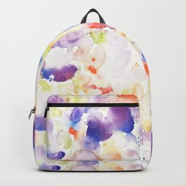 Abstract Washy Watercolour Splodges Backpack