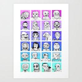 Familiar Strangers Art Print