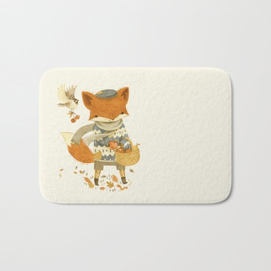 Fritz the Fruit-Foraging Fox Bath Mat