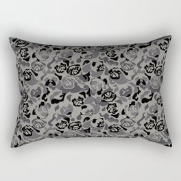 Pug Black Camouflage Rectangular Pillow