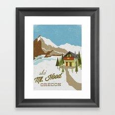 Ski Mt. Hood Framed Art Print