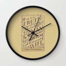 Jane Austen Covers: Pride and Prejudice Wall Clock