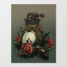 Sir Owl. Steampunk Canvas Print