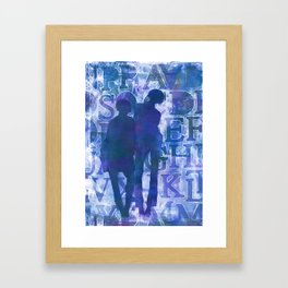 Women Out Of The Blue Indie Art Framed Art Print