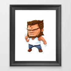 Mini Wolverine Framed Art Print