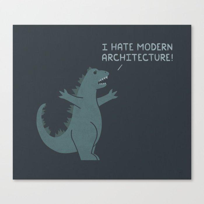Monster Issues - Godzilla Canvas Print