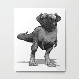 Pugussaurus Rex Metal Print