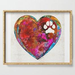 Dog Art - Puppy Love 2 - Sharon Cummings Serving Tray