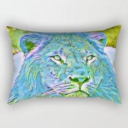 Funky lion Rectangular Pillow