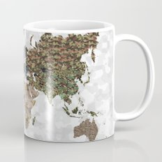 CAMO WORLD ATLAS MAP (white) Mug