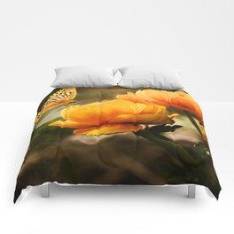 Butterfly on Flower Comforters