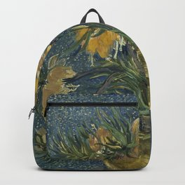 Vincent Van Gogh - Imperial Fritillaries in a Copper Vase Backpack