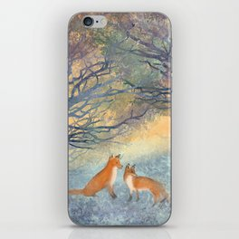 The Two Foxes iPhone Skin