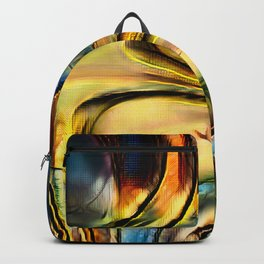 Golden Abstract 4 Backpack