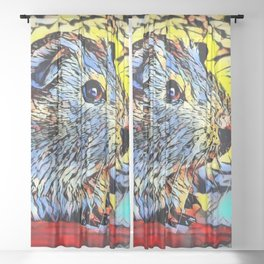 Color Kick - Guinea pig Sheer Curtain