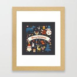 Christmas symbols pattern Framed Art Print