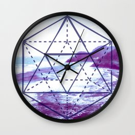 The Elements Geometric Nature Element of Water Wall Clock