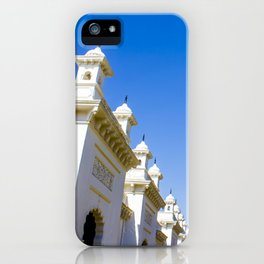 Blue Skies and Palm Trees Lining the Pathway at Chowmahalla Palace iPhone Case