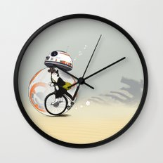 CAT INSIDE DROID Wall Clock