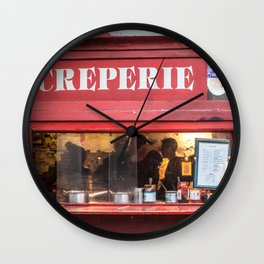 Creperie Wall Clock