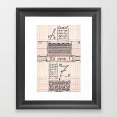 No distance left Framed Art Print